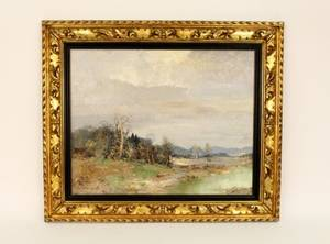 Willi Bauer Impressionist Style Landscape Oil
