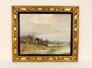 Willi Bauer Impressionist Style Landscape Oil