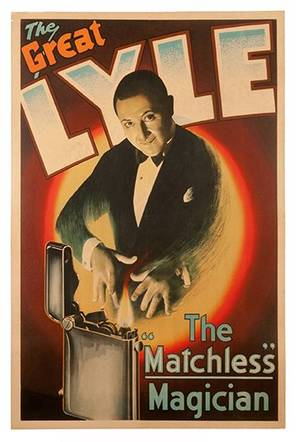 The Great Lyle The Matchless Magician vintage poster