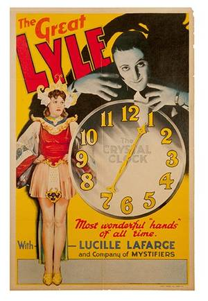 The Great Lyle The Crystal Clock vintage poster
