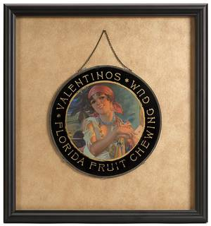 511 Valentinos Florida Fruit Reverse On Glass Chewing