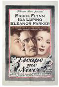 Escape Me Never Warner Brothers 1948 Onesheet 27 x