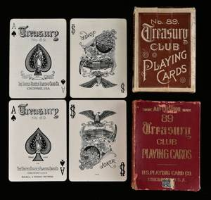 Two USPC Treasury Club No 89 Decks of Playing Cards