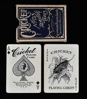 Kalamazoo Paper Box  Card Co Cricket No 3 Playing