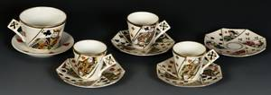Group of Three Demitasse Cups a Coffee Cup Five