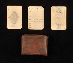Hand Drawn Deck of Cards Artist unknown ca 1900 52