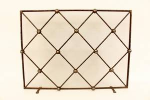 Iron Fire Screen with Diamond  Ball Decoration
