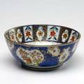 Turners patent bowl english underglaze blue with overglaze painted decoration marked turners patent 18th c possibly earlier 4 18 x 9 58 dia