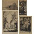 19th20th c etchings four works of art framed john sloan american 18711951 bandits cave 1920s signed james jacques joseph tissot french 18361902 untitled 1889 signed charles huard