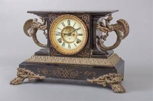 Ansonia Clock Co Belgium Mantel Clock C 1904