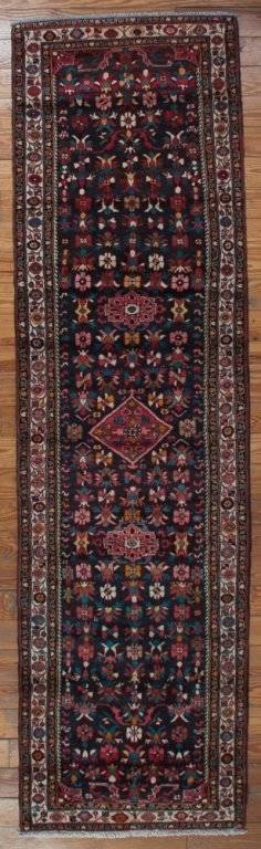 Antique Hamadan 34 x 126 Wool Runner