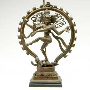 Indian bronze representing shiva mounted as a lamp height of bronze 20 12