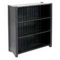 Arts  crafts open bookcase with four shelves paneled sides and tongue and groove back 43 x 36 x 15