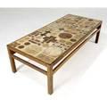 Tage poulsen danish ceramictop coffee table on oak base signed tp dk 17 34 x 62 x 34 12