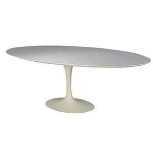 Eero saarinen elliptical dining table on pedestal base 29 x 95 x 53