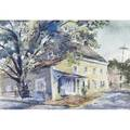 Ruth collings pleasonton american 18961968 untitled new hope pa watercolor framed signed provenance private collection pennsylvania 14 14 x 21 sight