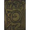 Jeanclaude gaugy frenchamerican b 1944 untitled wood carving signed provenance private collection new jersey 24 x 17 12