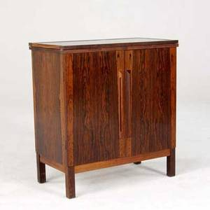 Bruskbo rosewood bar cabinet with black laminate top and interior compartments marked bruskbo made in denmark 33 x 30 x 16