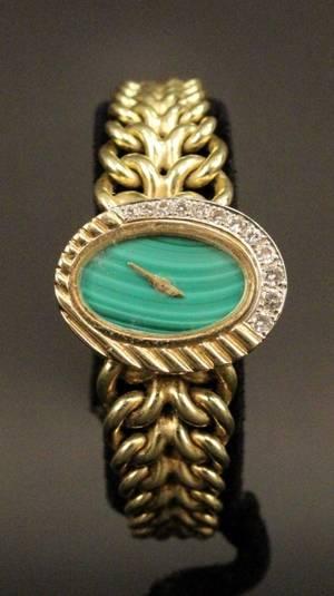 14k Gold  Diamond Ladies Watch