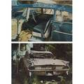 John salt american b 1937 two works of art derelict vehicle 1971 lithograph in colors framed signed pioneer pontiac 1971 lithograph in colors framed signed provenance estate of carl