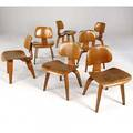Charles eames set of seven bentwood dining chairs 21 12 x 19 x 20