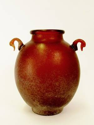 Art Glass Urn Vase Murano Style