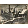Victoria hutson huntley american 19001971 factory 1932 lithograph framed signed dated and inscribed 10 18 x 13 78 sight provenance private collection new jersey