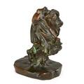 Clio bracken american 1870 1925 untitled bronze signed clio bracken 4 high provenance private collection maryland