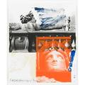 Robert rauschenberg american 19252008 for ferraro1992 lithograph in colors framed signed dated and numbered 18150 10 x 8 38 sheet publisher gemini gel los angeles provena