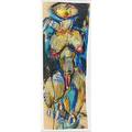 Bern schwarzer german b 1954 nude 1983 mixed media on paper framed signed and dated 30 x 11 irregular sheet provenance katharina rich perlow gallery new york label on verso p