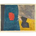 Serge poliakoff russian 19061969 composition bleue jaune et grise no 16 1958 lithograph in colors framed signed and numbered 45100 20 34 x 26 12 sight provenance private col