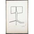 Ellsworth kelly american b 1923 untitled 1949 lithograph framed initialed dated and numbered 416 19 34 x 13 sheet literature axsom 1 provenance private collection note th