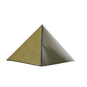 Roy lichtenstein american 19231997 pyramid 1968 screenprint on board 17 x 19 58 x 19 58 literature corlett 62 provenance private collection