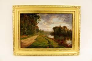 Charles Coussediere Landscape Oil