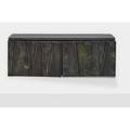 Paul evans 1931  1987 directional deep relief wallhanging cabinet pe 19 usa 1967 slate welded polychromed and patinated steel welded signature pe 67 17 14 x 48 12 x 16 12
