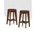 Pierre jeanneret 1896  1967 pair of stools from the chandigarh administrative buildings franceindia 1950s stained teak 26 12 x 20 12 dia literature le corbusier pierre jeanneret the i