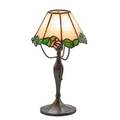 Bigelow kennard attr boudoir lamp boston ma ca 1910 leaded glass patinated bronze single socket base stamped p 12 12 x 7