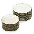Edward colonna 1862  1948 gerard duffraissex abbot gda glazed porcelain canton service plates limoges france ca 18991900 thirteen salad plates and thirteen dinner plates all with gree