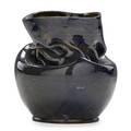 George ohr 1857  1918 vase with inbody twist indigo glaze biloxi ms 18971900 stamped ge ohr biloxi miss 4 12 x 4