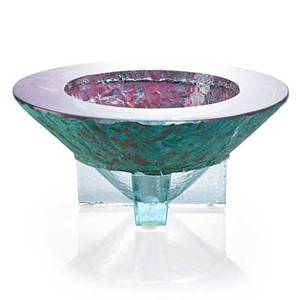 John lewis b 1942 patina cross vessel california 1987 cast glass and patinated copper etched j lewis 8741 6 12 x 14 12