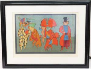Mihail Chemiakin Figural Lithograph Signed