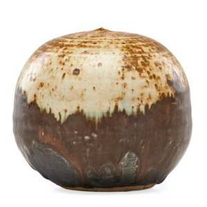 Toshiko takaezu 1922  2011 glazed stoneware moonpot with rattle clinton nj signed tt 4 x 4