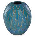 Maija grotell 1899  1973 exceptional massive glazed stoneware vase with abstract wax resist pattern bloomfield hills mi 1940s50s signed mg 15 x 12 12 provenance collection of robert a