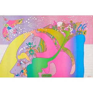 Peter max american b 1937 four offset lithographs instant nutrament 1 2 and 4 1969 and chelsea national bank each 35 78 x 24 sheet