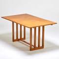 Eero saarinen johnson furniture co dining table grand rapids mi 1940s birch unmarked 30 x 60 x 36