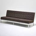 Florence knoll knoll associates sofa new york 1960s chromed steel upholstery unmarked 31 x 84 x 30
