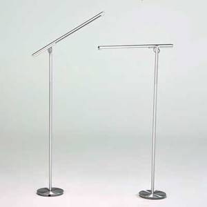 Pablo pardo pair of brazo adjustable floor lamps san francisco ca 2000s spun aluminum glass marked as shown taller 59 x 24 x 8 12