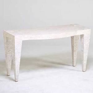 Maitland smith console table usa 1980s marble unmarked 29 x 54 x 21