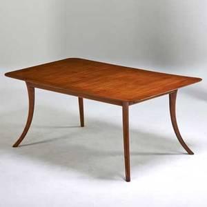 Th robsjohn gibbings widdicomb sabreleg dining table grand rapids mi 1950s walnut decal label 29 x 68 x 40