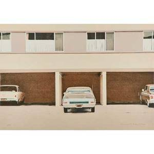 Robert alan bechtle american b 1932 lithograph in colors 68 nova framed signed and numbered 19300 24 x 34 sheet